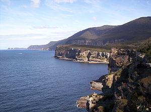 Coastal cliffs of the Tasman Peninsula, Tasman...