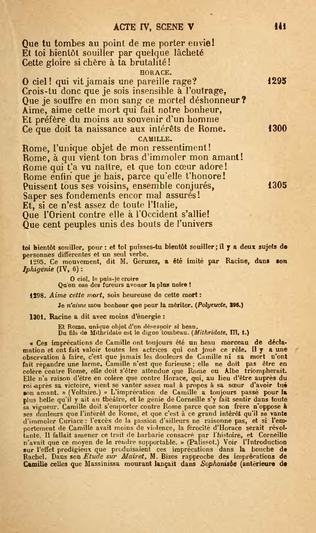 Rome Unique Objet De Mon Ressentiment : unique, objet, ressentiment, Page:Corneille, Théâtre, Hémon, Tome2.djvu/157, Wikisource