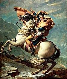Napoléon vượt Anpơ, phiên bản lãng mạn của Jacques-Louis David năm 1805