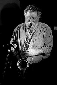 Saxophonist Evan Parker by Benjamin Amure