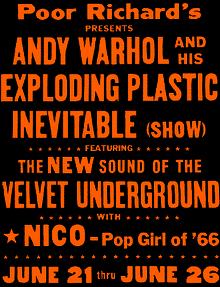 Plakat von The Velvet Underground, 1966