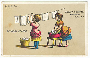 Late 19th century advertisement for laundry st...