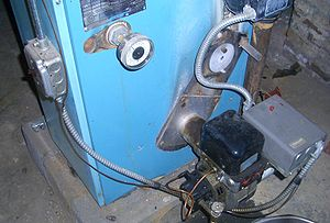 English: This is an oil furnace used for home ...