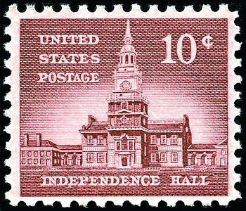 English: US Postage stamp, 1956 issue, 10c, In...
