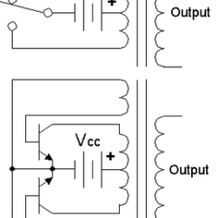 3 Phase Converter Wiring Diagram Simple Human Heart Power Inverter Wikipedia Top Circuit Shown With An Electromechanical Switch And Automatic Equivalent Auto Switching Device Implemented Two Transistors