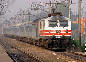 Lucknow Shatabdi near New Delhi
