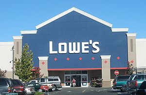 A typical Lowe's storefront in Santa Clara, Ca...