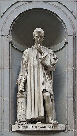 Français : Statue de Nicolas Machiavel, (Série...