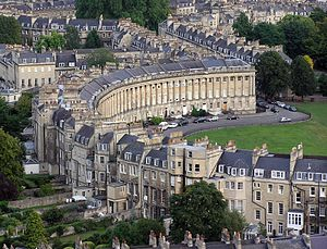 The Georgian terrace of Royal Crescent (Bath, ...