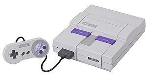 A Super Nintendo (SNES or Super NES) video gam...