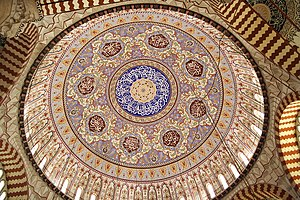 The interior of the Selimiye Mosque in Edirne,...