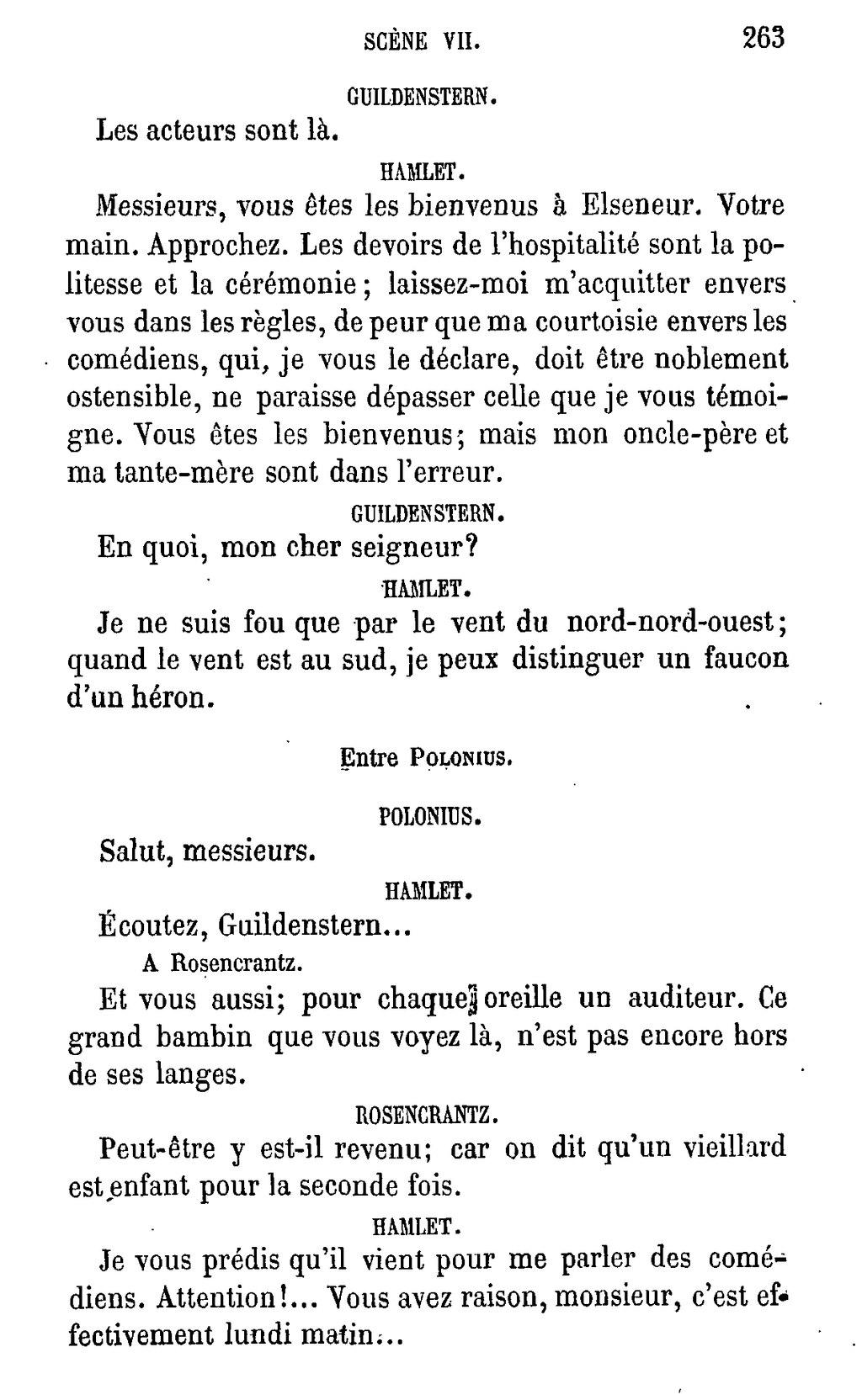 Hamlet être Ou Ne Pas être : hamlet, être, Page:Shakespeare, Œuvres, Complètes,, Traduction, Hugo,, Pagnerre,, 1865,, 1.djvu/261, Wikisource