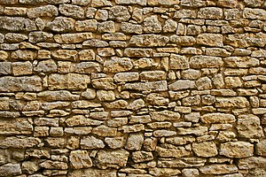 A dry stone wall, in Limeuil, Dordogne, France