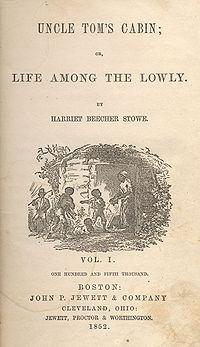 Bìa tiểu thuyết Túp lều bác Tom trong lần ấn bản đầu tiên.