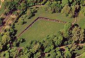 Vietnam Memorial Wall from air view