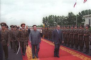 PYONGYANG. President Putin with North Korean l...