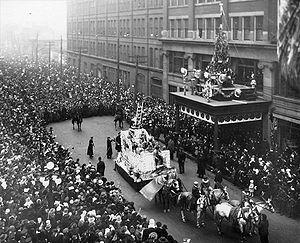 The Eaton's Santa Claus Parade on James Street...