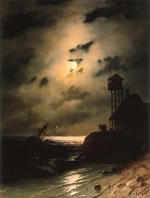 Aivasovsky Ivan Constantinovich Moonlit Seasca...