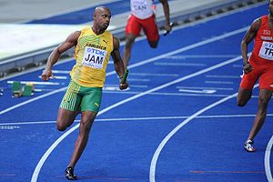 English: Asafa Powell at the World Championshi...