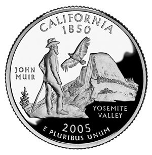 John Muir on the California commemorative quar...