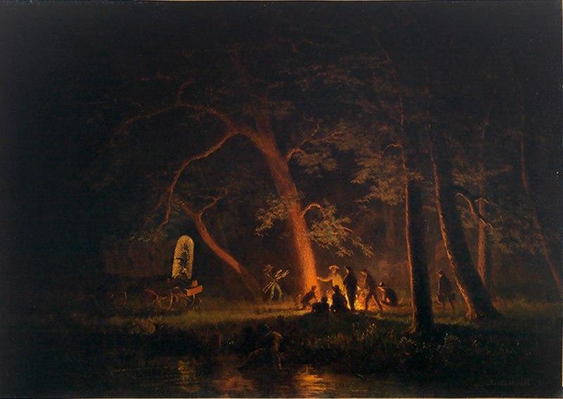 FileCampfire Albert Bierstadt 1863jpg Wikimedia Commons