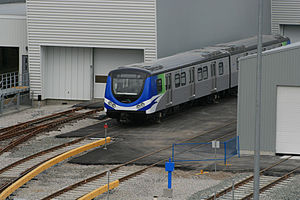 This is one of the new trains that will be run...