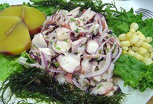 (Ceviche de pulpo, as known and prepared in th...