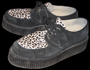 "A pair of ""triple sole"" Creepers shoes."