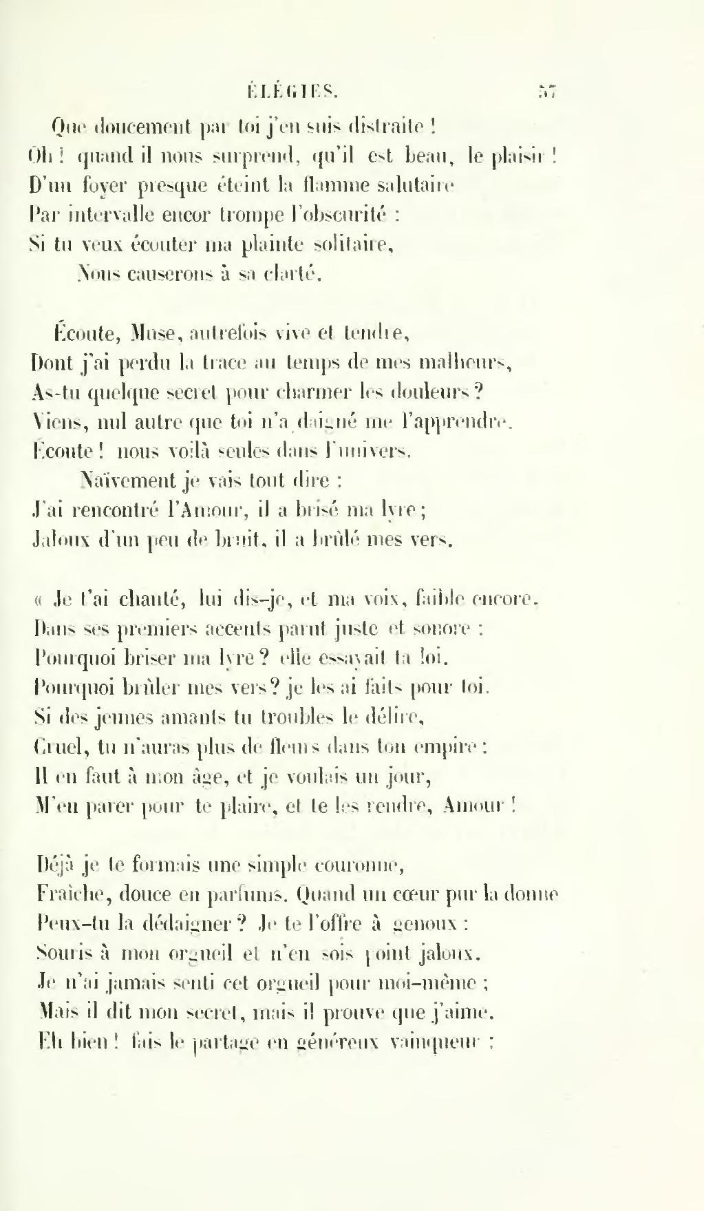 Je Suis Solitaire Et J'aime ça : solitaire, j'aime, Page:Desbordes-Valmore, Poésies,, 1860.djvu/67, Wikisource