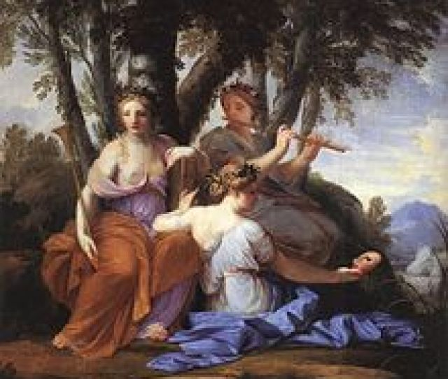 The Muses Clio Euterpe And Thalia By Eustache Le Sueur