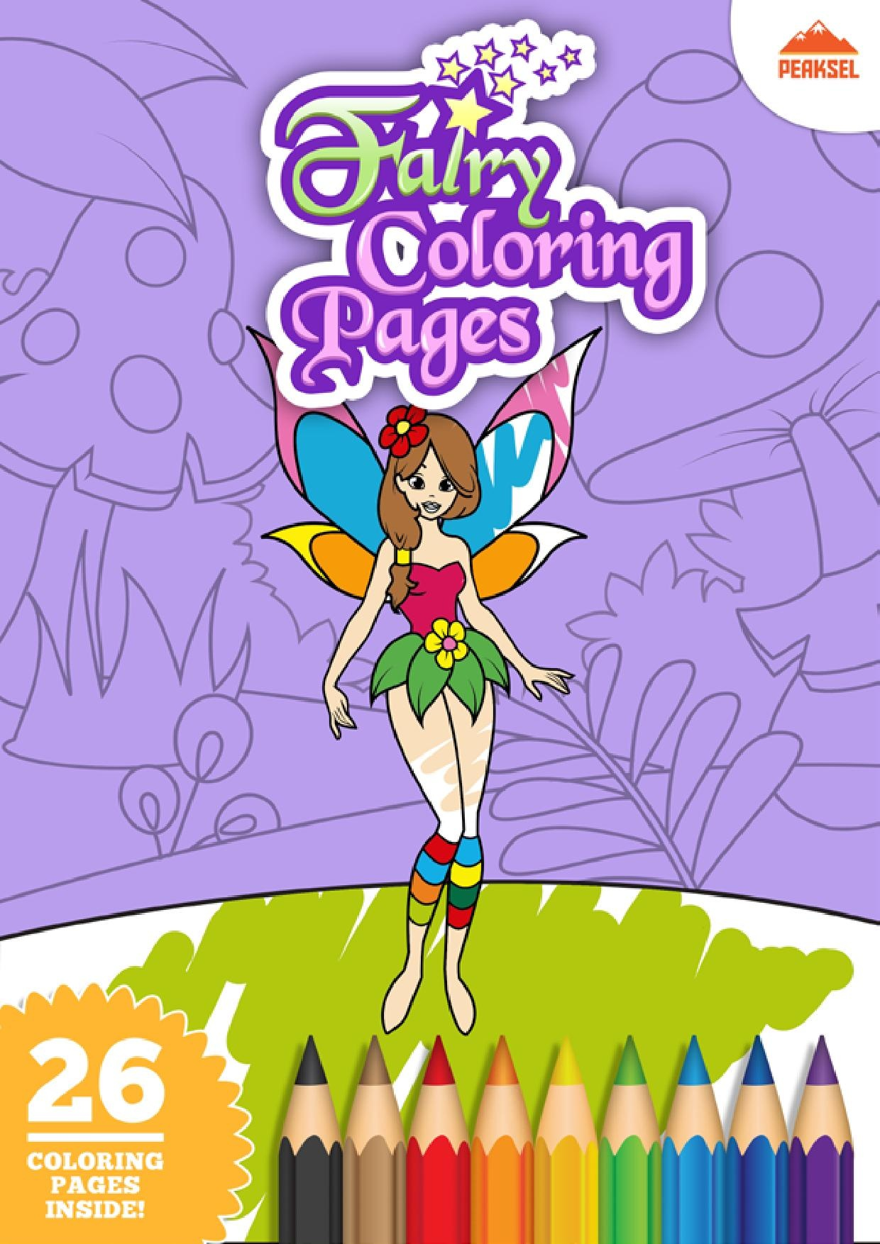 File Fairy Coloring Pages Printable Coloring Book For Kids Pdf