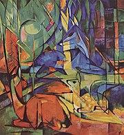 Rehe im Walde by Franz Marc