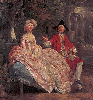 Conversation in a Park, detail (1745)