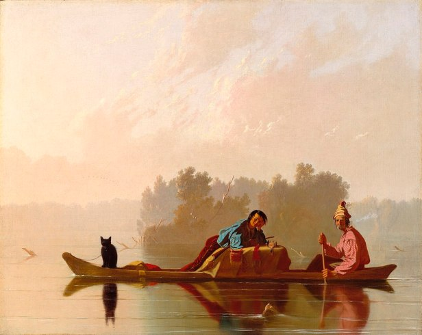 """""""Fur Traders Descending the Missouri"""" by George Caleb Bingham"""