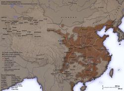 Vị trí của Nhà Hán