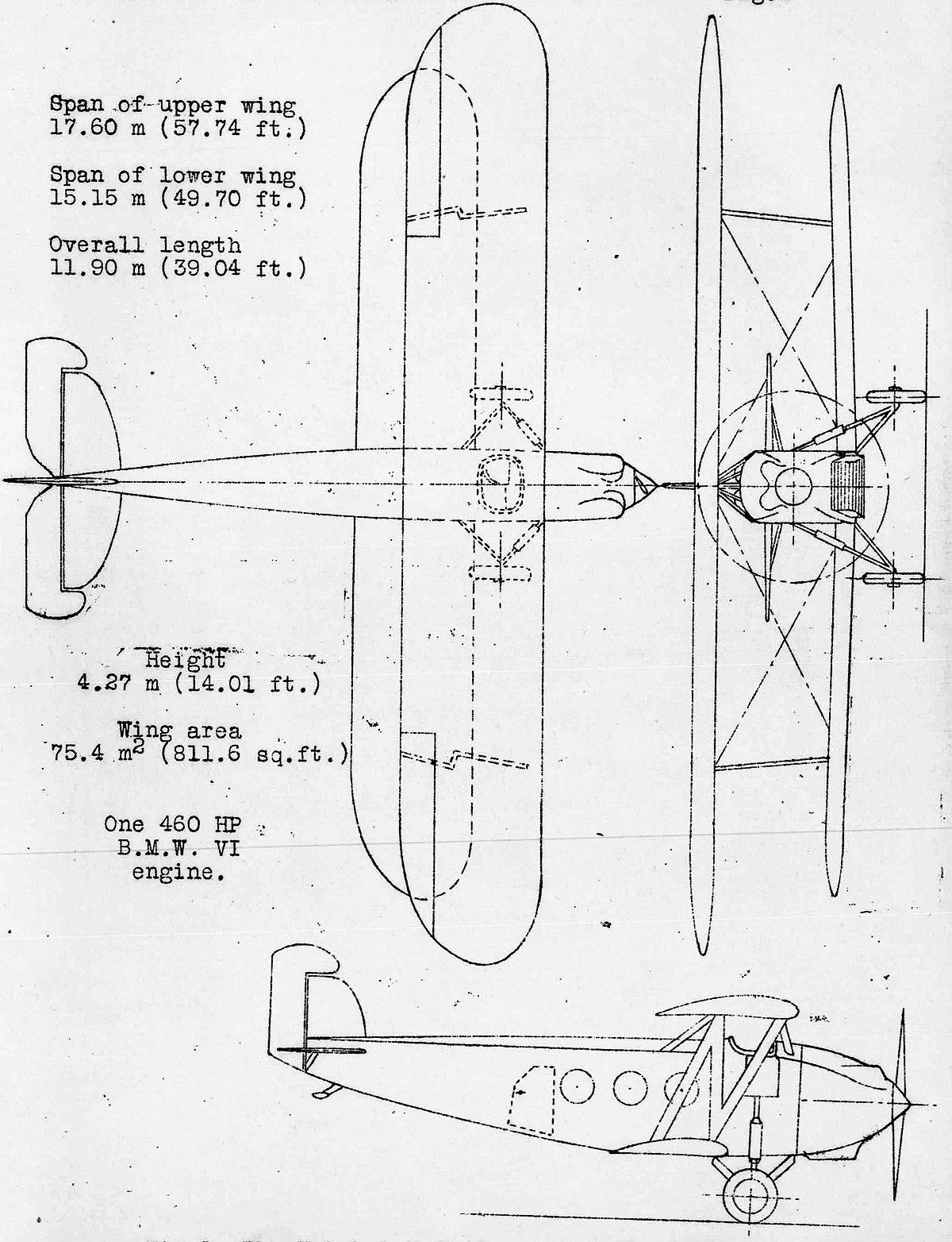 Datei:Heinkel HD-40 3-view NACA Aircraft Circular No.64