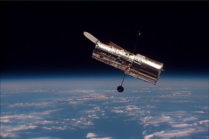English: The Hubble Space Telescope (HST) begi...