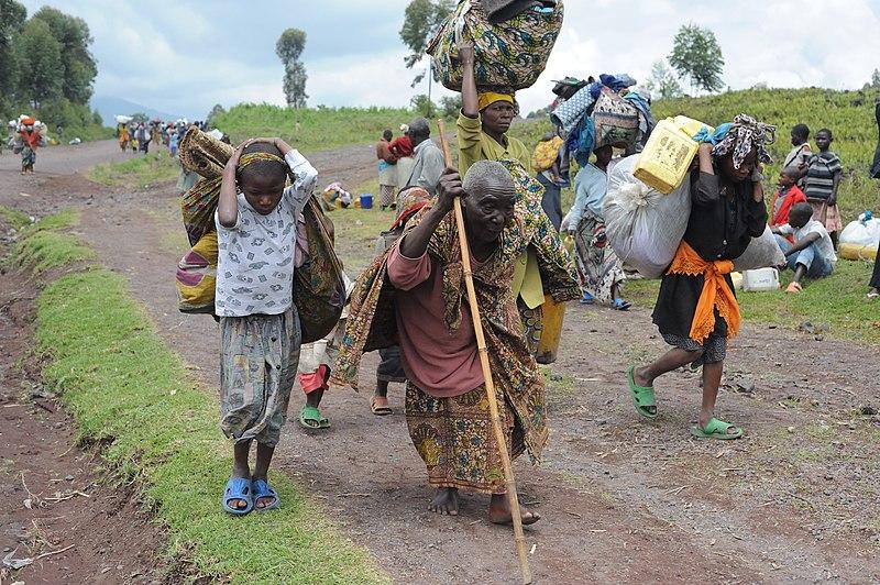 Flyktingar vid Goma. Foto: Julien Harneis, creative commons