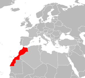 locator map for Morocco