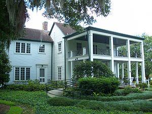 Mizell Leu House, in the Harry P. Leu Gardens,...