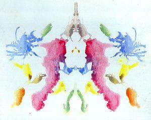 the tenth blot of the Rorschach inkblot test