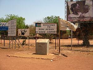Rumbek Airport (HSMK), Southern Sudan.