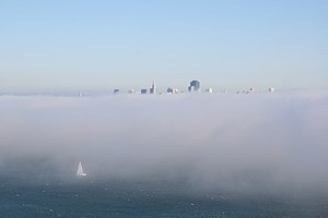 English: San Francisco in fog