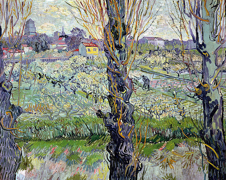 File:Van Gogh - Blühender Obstgarten mit Blick auf Arles.jpeg