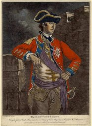 English: This is a color mezzotint of General ...