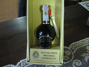 English: The special bottle which holds the Ac...