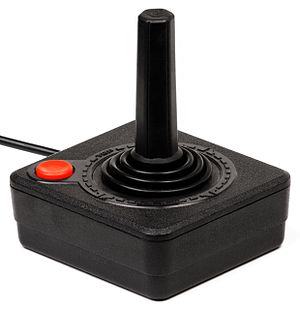 A joystick controller for the Atari 2600 video...