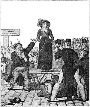 A contemporary French print of an English wife...