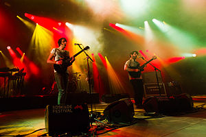 English: Foals performing at Roskilde Festival...