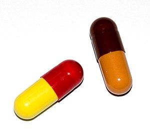 A gelatin capsule for medicine
